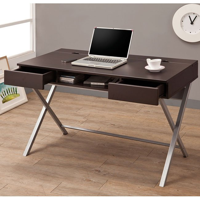 Connect-It Cappuccino Office Desk