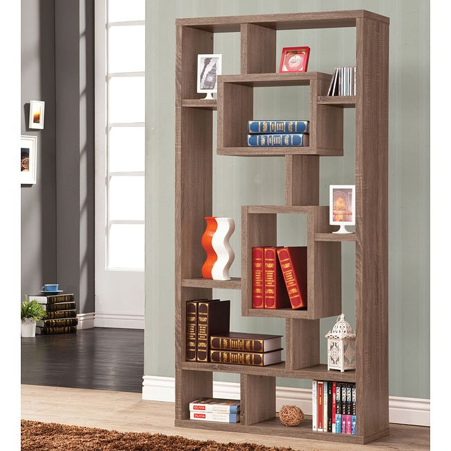 Distressed Brown Bookshelf