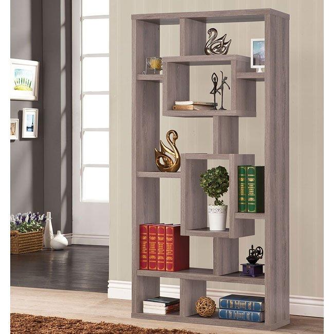 Distressed Grey Bookshelf