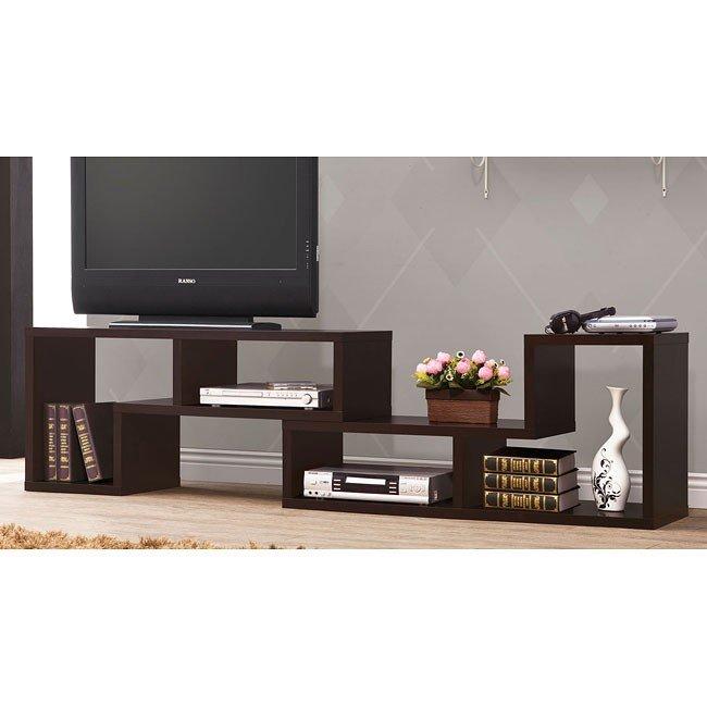 Convertible Cappuccino TV Console/ Bookcase Combination