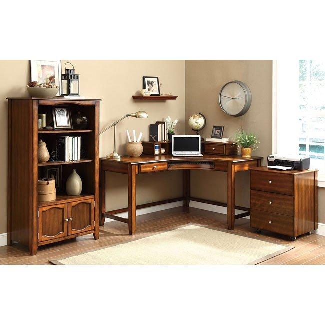 Jacqueline Home Office Set (Walnut)