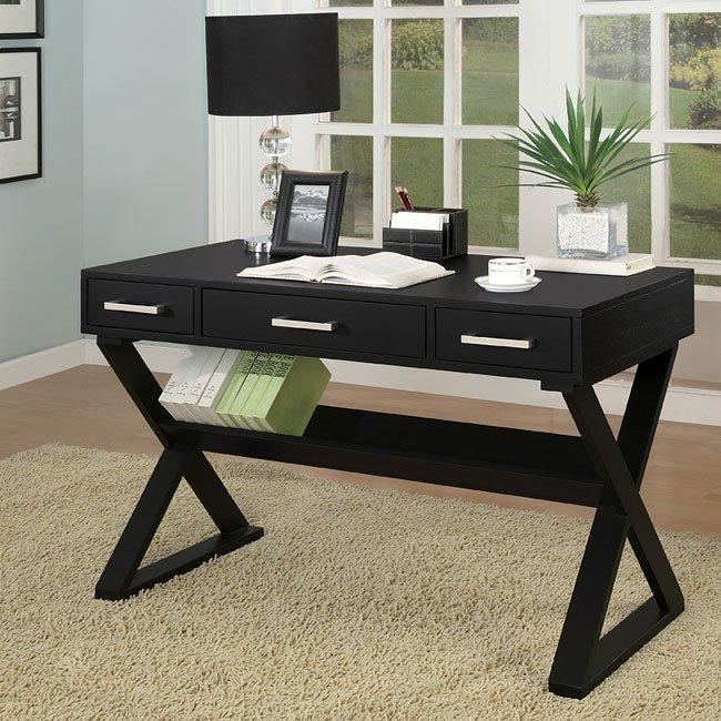 Sleek Black Home Office Desk Coaster Furniture