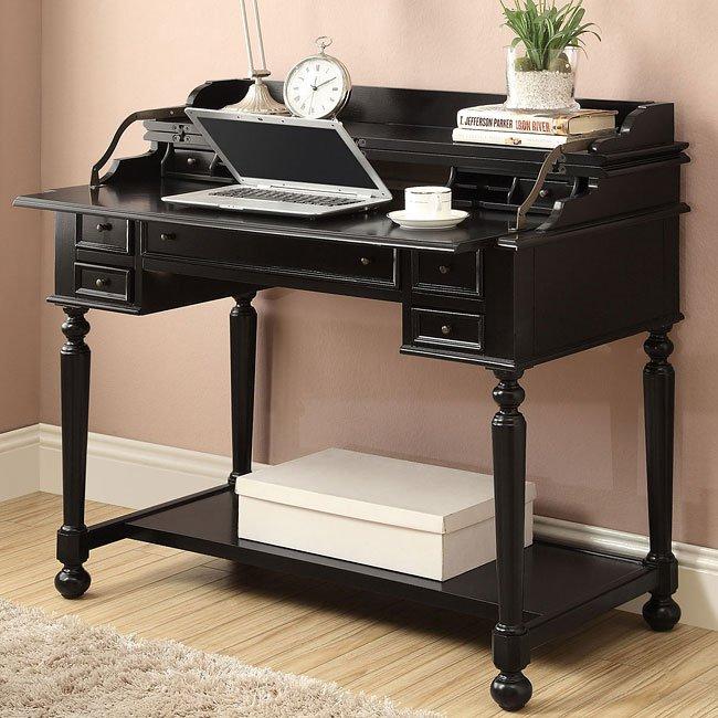 Black Writing Desk w/ Lift Top