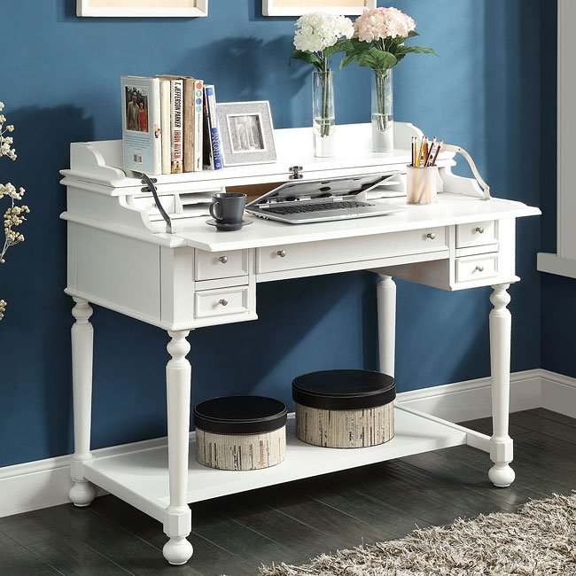 White Writing Desk w/ Lift Top