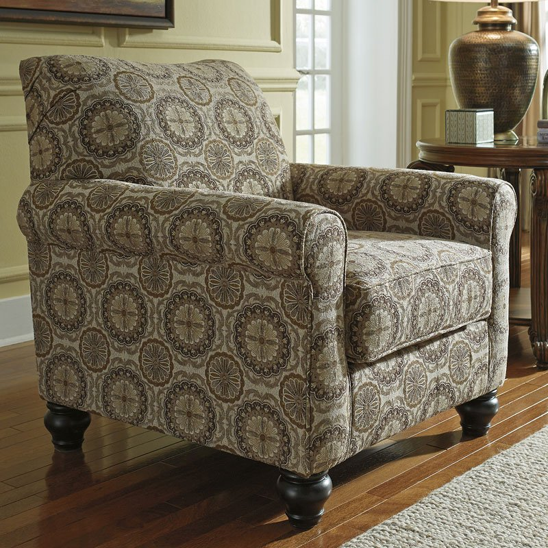 Breville Burlap Accent Chair Signature Design By Ashley