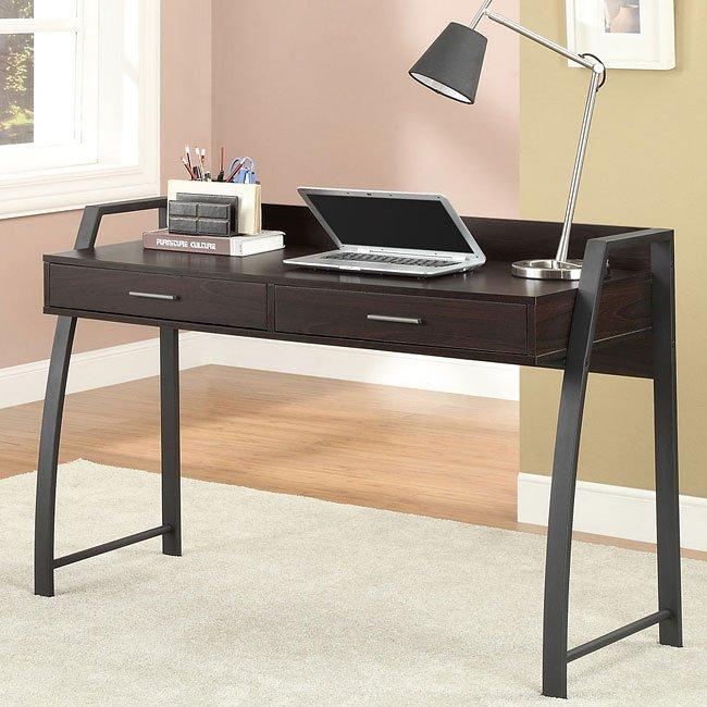 Wood/ Metal Computer Desk