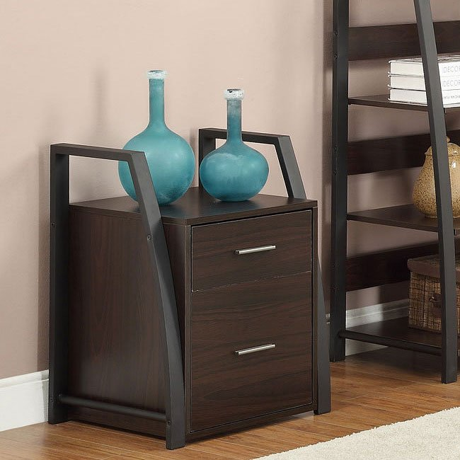 Wood/ Metal Filing Cabinet