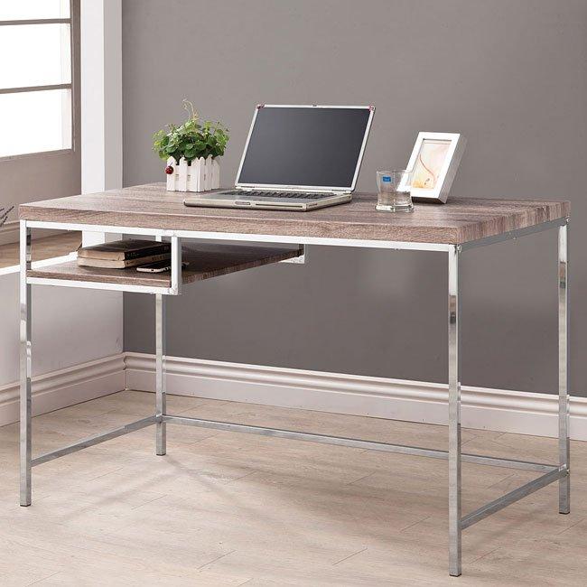 Computer Desk w/ Reclaimed Wood Look