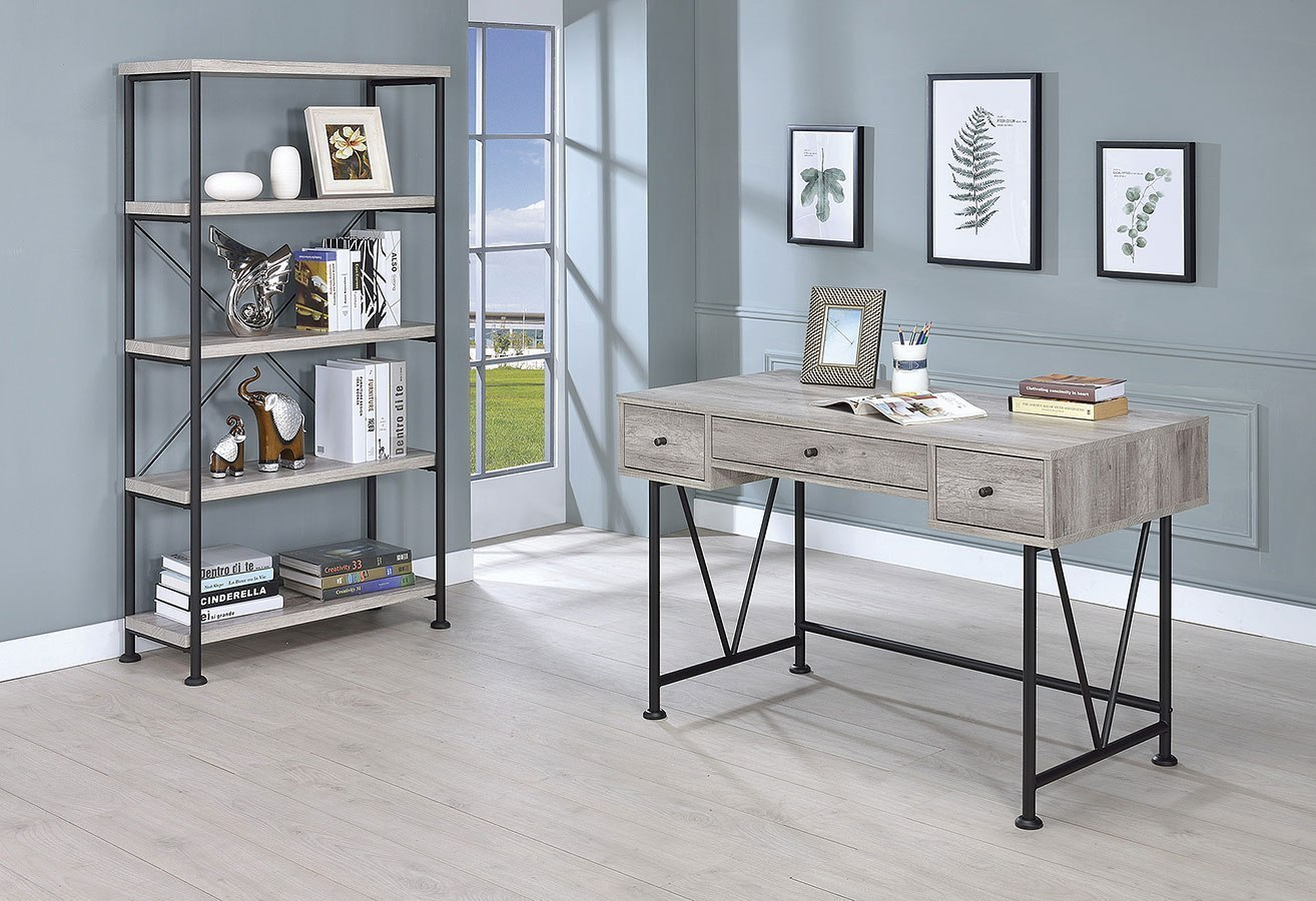 Analiese Small Home Office Set (Grey Driftwood)