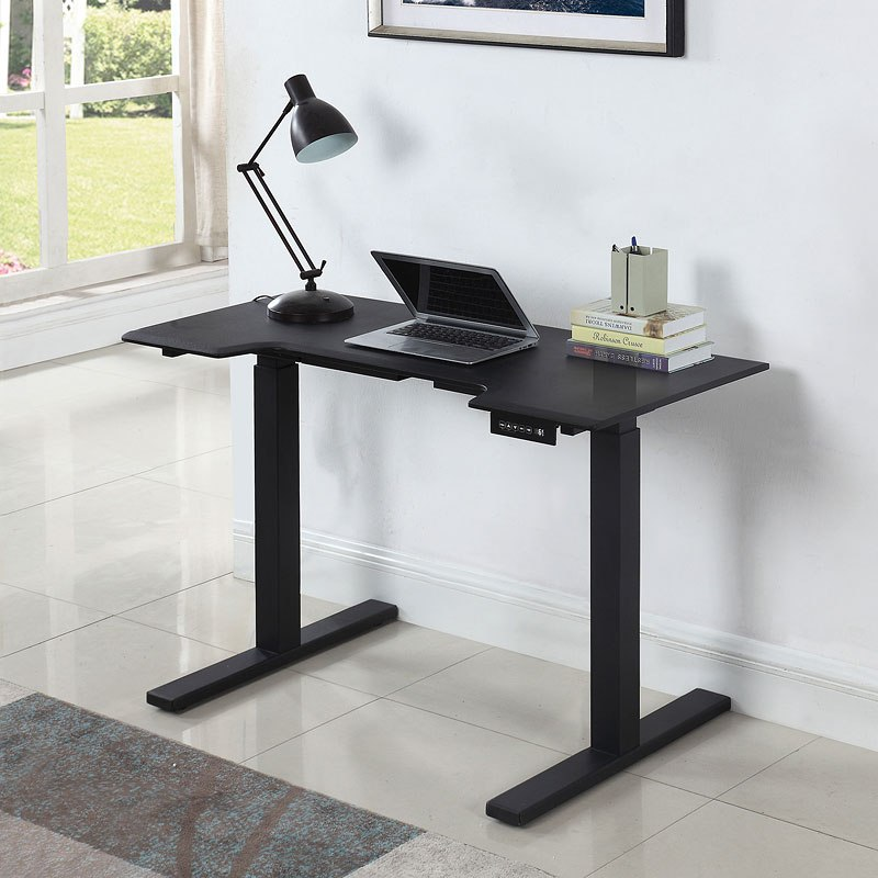 black motorized standing desk coaster furniture furniture cart rh furniturecart com motorized standing desk converter motorized standing desk legs