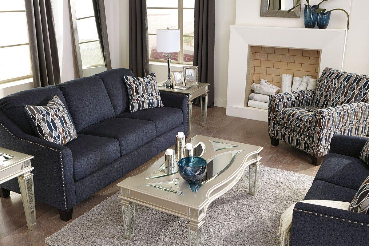 Creeal Heights Ink Living Room Set Benchcraft Furniture Cart