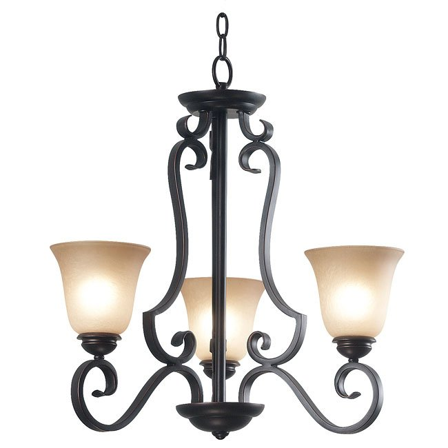 Flex 3 Light Chandelier (Bronze)