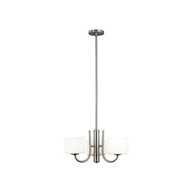 Matrielle 3 Light Chandelier (Brushed Steel)