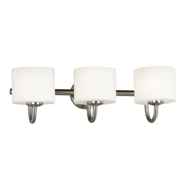Matrielle 3 Light Vanity (Brushed Steel)