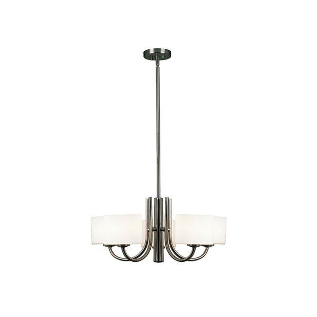 Matrielle 5 Light Chandelier (Brushed Steel)