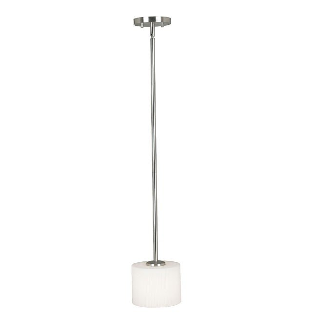 Matrielle 1 Light Mini Pendant (Brushed Steel)