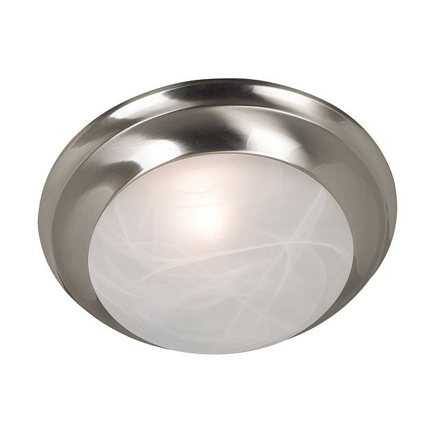 Dickens 1 Light Flush Mount (Brushed Steel)