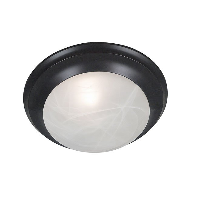 Dickens 1 Light Flush Mount (Bronze)