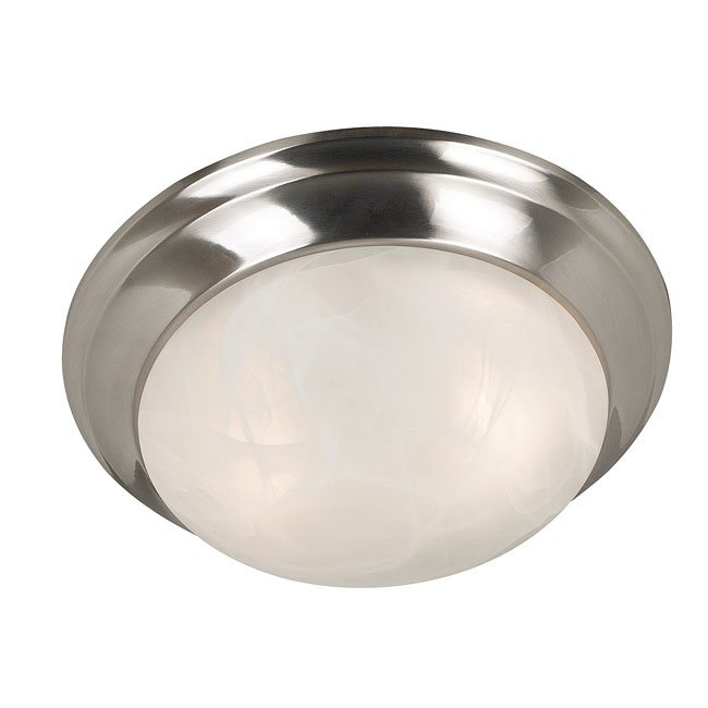 Dickens 2 Light Flush Mount (Brushed Steel)