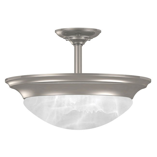 Dickens 2 Light Semi-Flush (Brushed Steel)