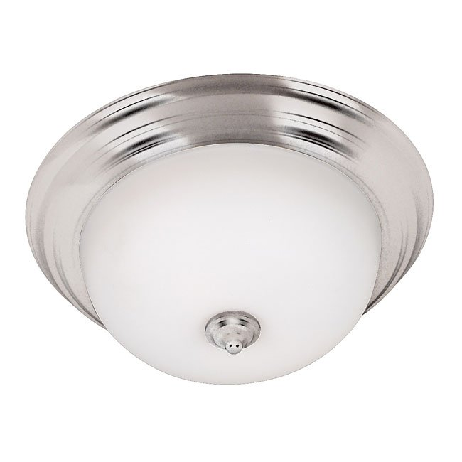 Triomphe 2 Light Flush Mount (Brushed Steel)