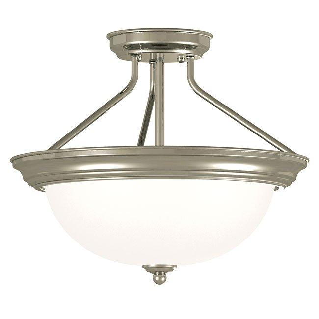 Triomphe 2 Light Semi-Flush (Brushed Steel)