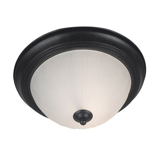 Interlude 1 Light Flush Mount (Bronze)