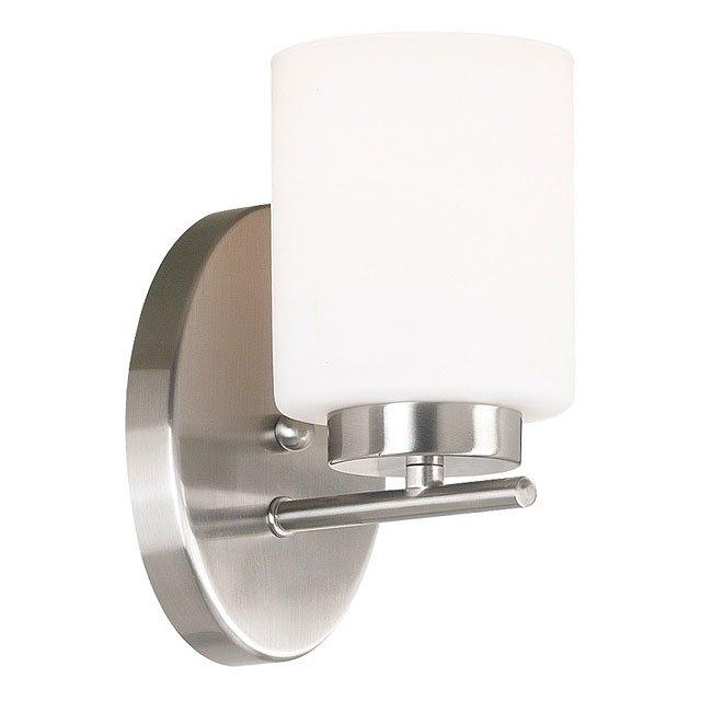 Mezzanine 1 Light Sconce (Brushed Steel)