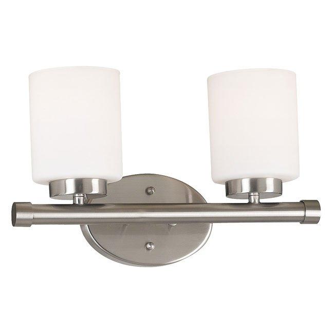 Mezzanine 2 Light Vanity (Brushed Steel)