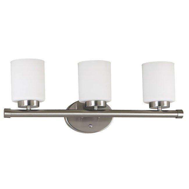 Mezzanine 3 Light Vanity (Brushed Steel)