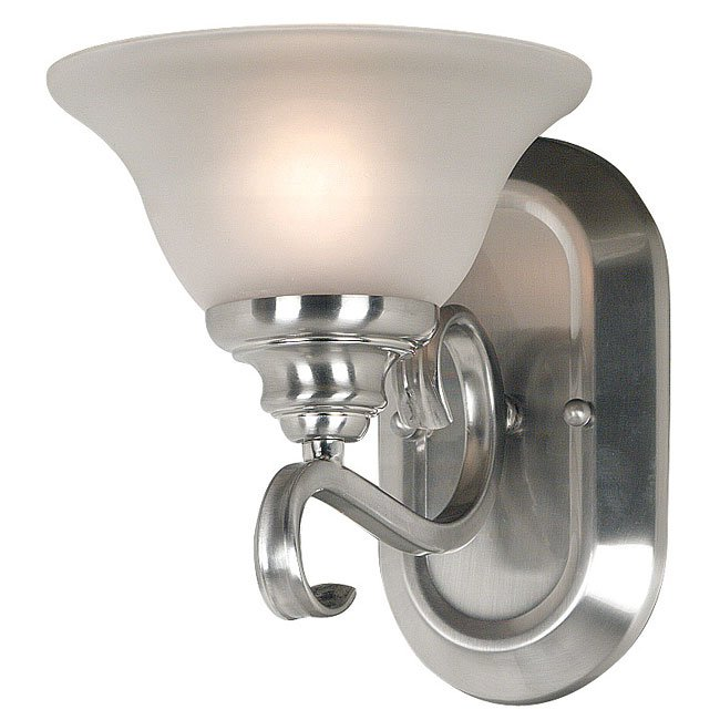Welles 1 Light Sconce (Brushed Steel)
