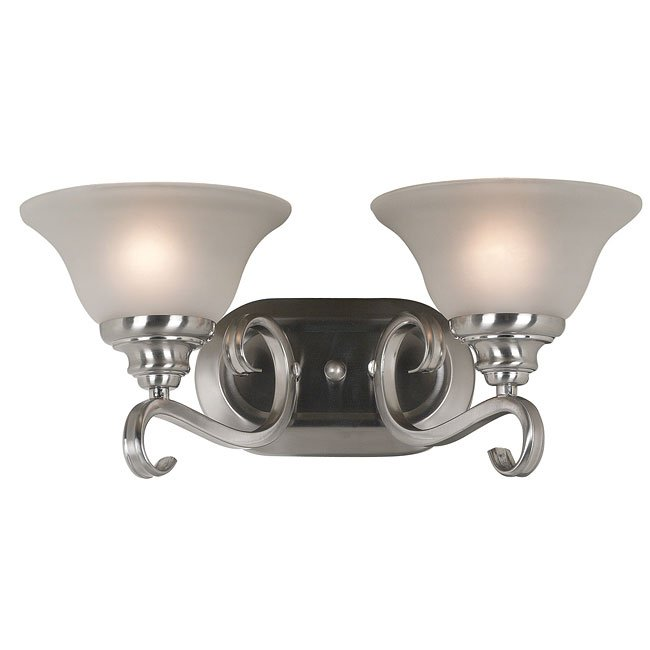 Welles 2 Light Vanity (Brushed Steel)
