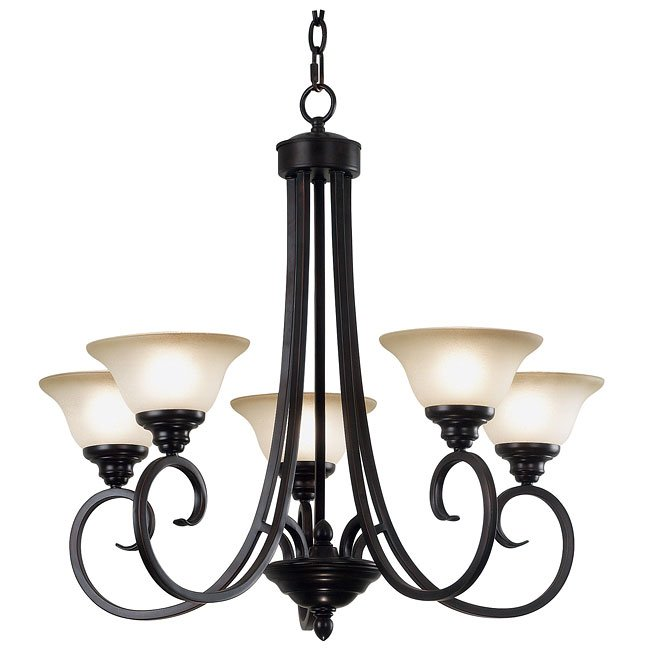 Welles 5 Light Chandelier (Bronze)