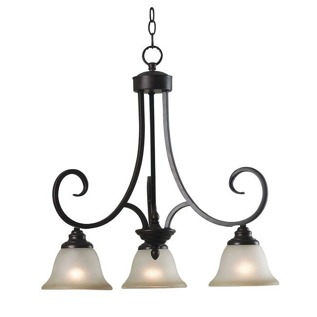 Welles 3 Light Chandelier (Bronze)