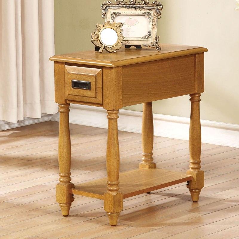 qrabard side table light oak acme furniture furniture cart. Black Bedroom Furniture Sets. Home Design Ideas