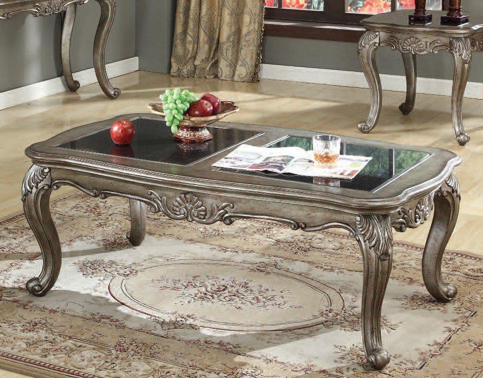 Chantelle Coffee Table w/ Black Granite Top