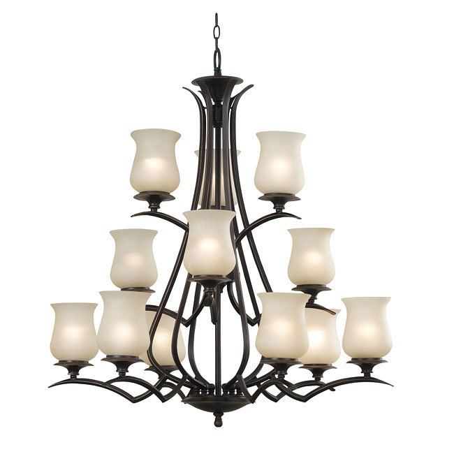 Bienville 12 Light Chandelier (Bronze)