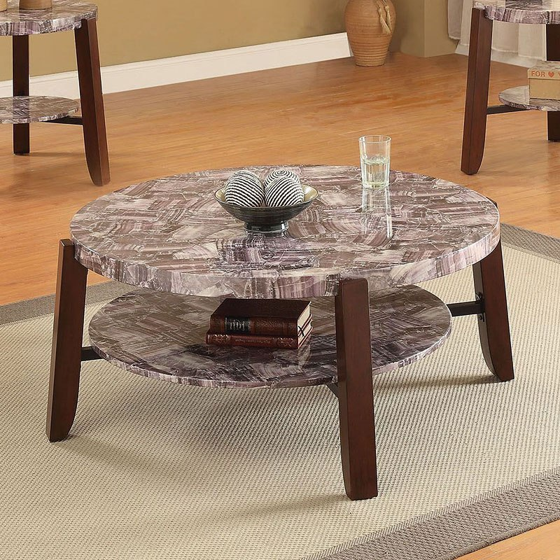 Marble Coffee Table Ashley Furniture: Lilith Coffee Table (Light Faux Marble) Acme Furniture