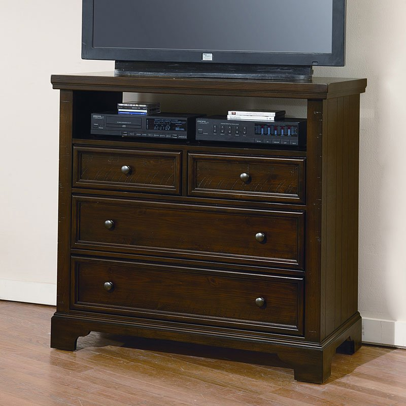 Bassett Coupon: Hanover Media Chest (Merlot) Vaughan Bassett