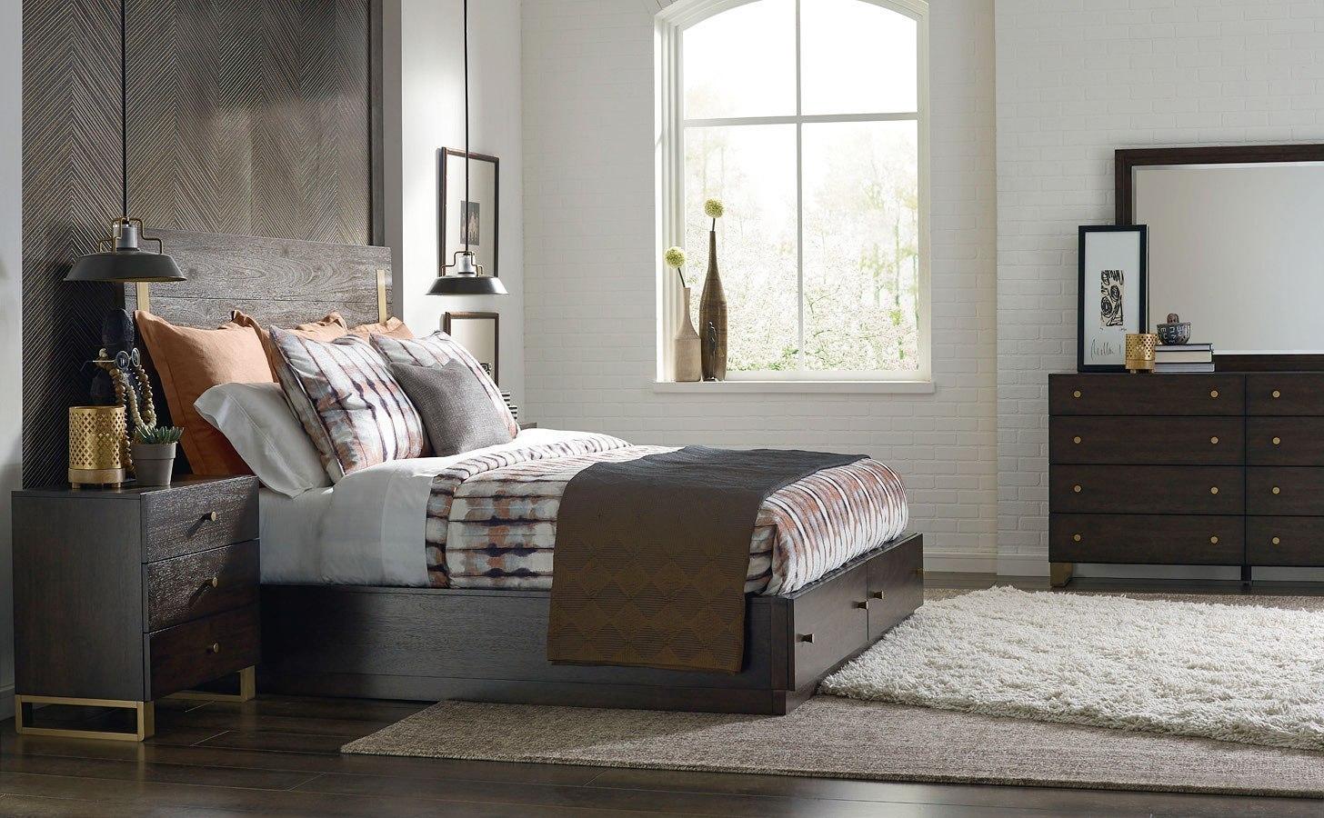 Austin Metal Accent Storage Bedroom Set