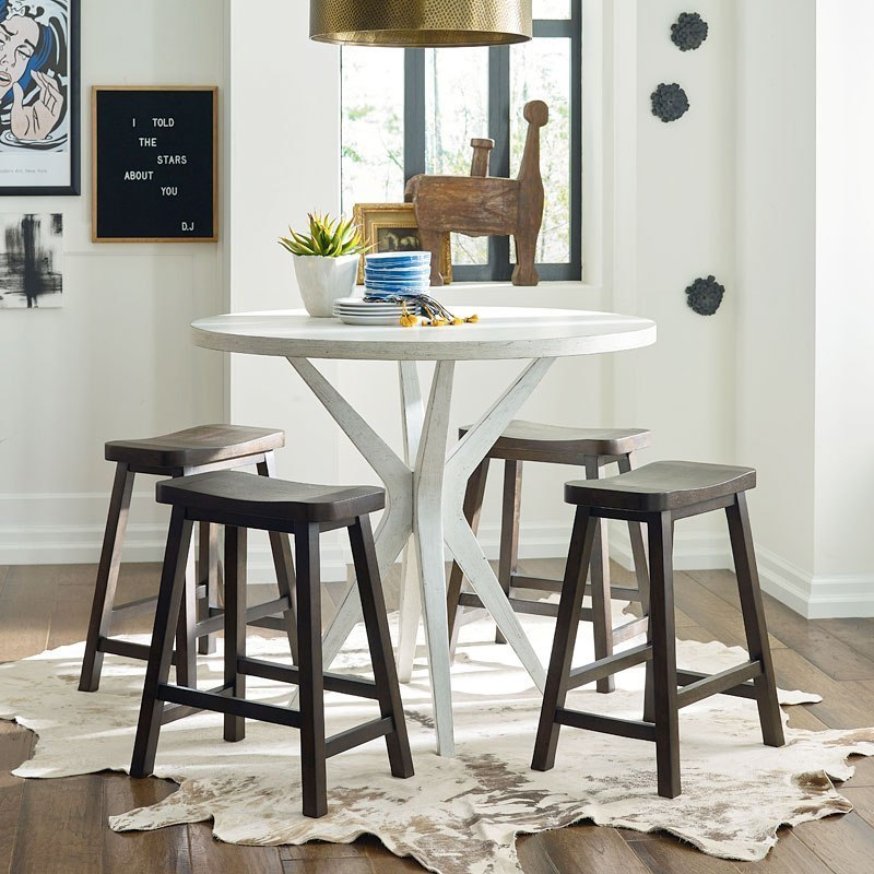 Austin Round Pub Table Set Rachael Ray Home By Legacy Clic Furniture Cart
