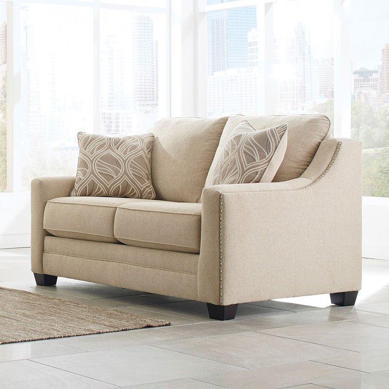 Mauricio Linen Loveseat Benchcraft Furniture Cart