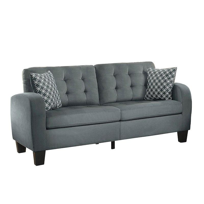 Sinclair Living Room Set (Gray) Homelegance
