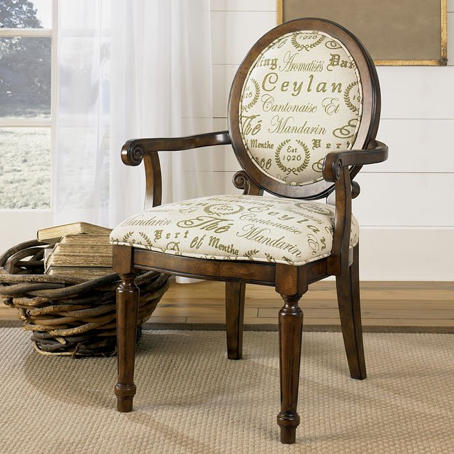 Aldridge - Sage Showood Accent Chair