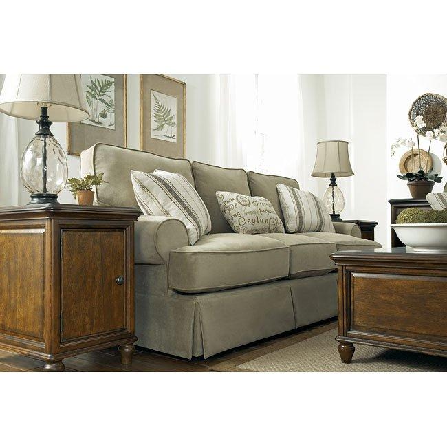 Aldridge - Sage Living Room Set Millennium   Furniture Cart