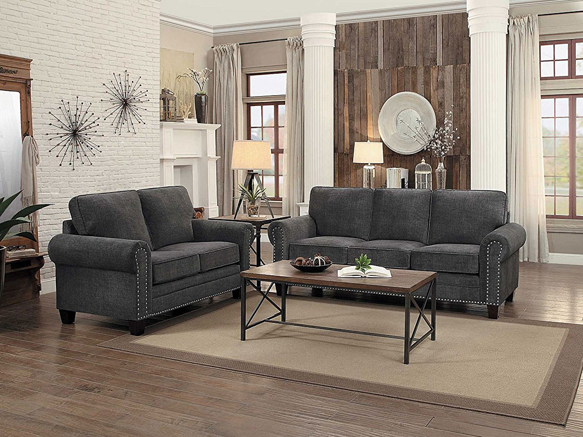 Cornelia Living Room Set (Dark Gray)