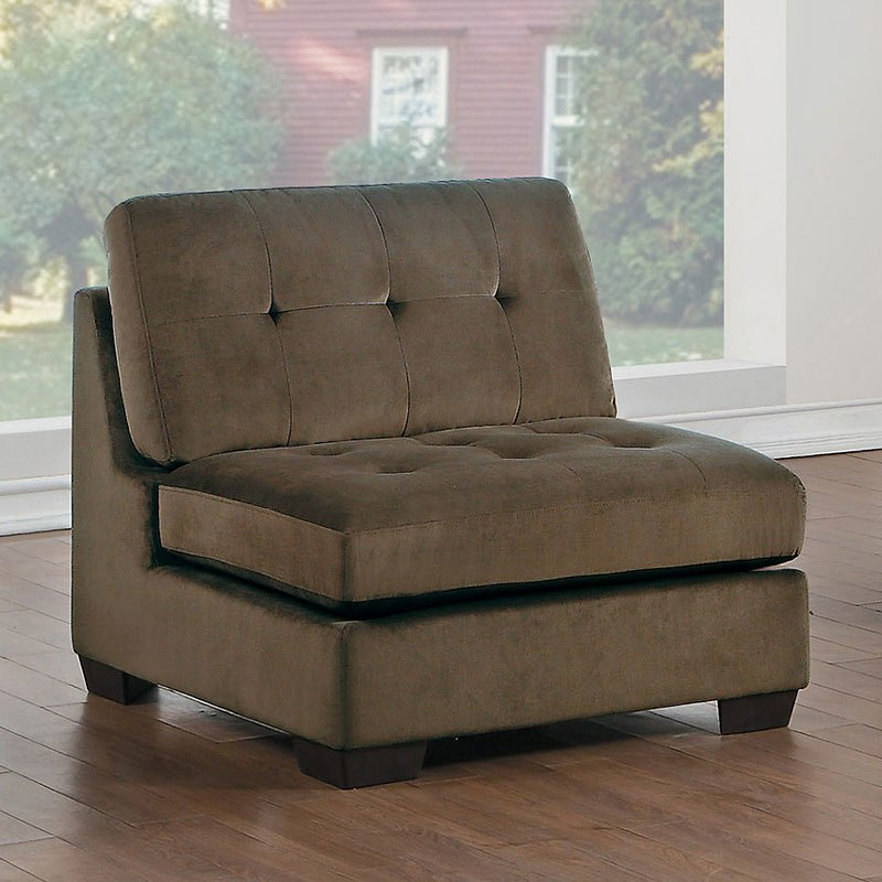 Savarin Armless Chair (Dark Brown)