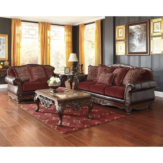 Weslynn Place Burgundy Living Room Set