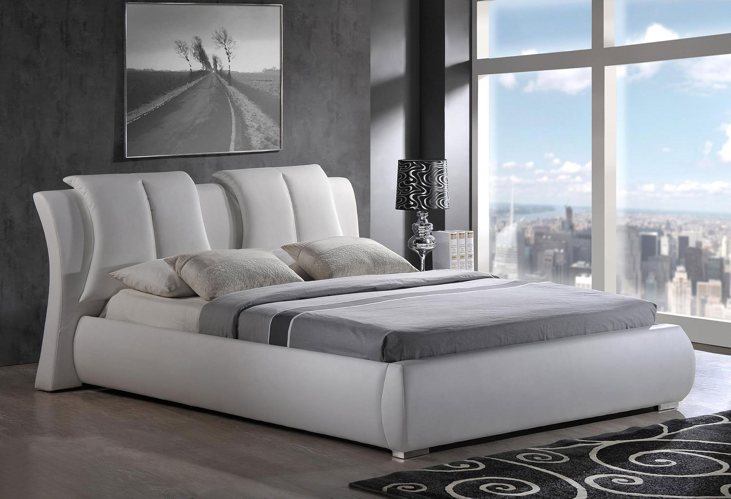 Picture of: 8269 Upholstered Bed White Global Furniture 1 Reviews Furniture Cart