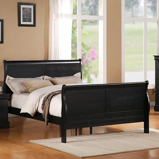 Lewiston Sleigh Bedroom Set (Black)